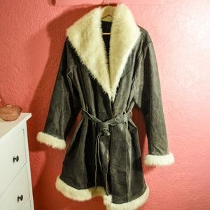 Torrid 100% Suede & Faux Fur Coat
